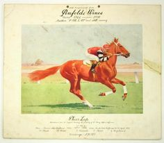 Card advertising poster produced by Penfolds Wines, dated 1932.