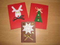 Naše tvoření vánoční přáníčka |