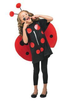 Lady Bug T-shirt Costume - brilliant idea! Created using duct tape . Book Day Costumes, T Shirt Costumes, Diy Costumes, Ant Costume, Ladybug Costume, Halloween Kostüm, Halloween Costumes, Little Girl Dresses, Girls Dresses