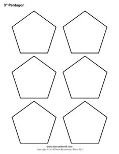 Free Pentagon Template; various sizes