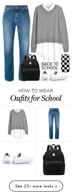 """Back to School!"" by ella178 on Polyvore featuring Dondup, Converse and BackToSchool"