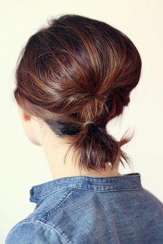 10 Hot Weather Hairstyles: Ponytail for Short Hair  #hairstyles #hair