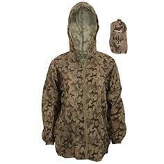 Proclimate Womens/Ladies Dog Pattern Waterproof Packable Jacket With Bag (Small) (Khaki) Raincoats For Women, Jackets For Women, Baby Raincoat, Dog Accesories, Packable Jacket, Dog Pattern, Work Casual, Military Jacket, Winter Jackets