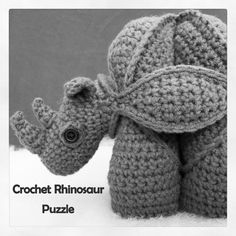 inspiration...Crochet Rhinosaur Puzzle Pattern - Look At What I Made