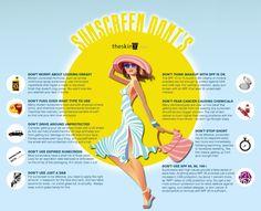 Good advice! #Sunscreen Don'ts