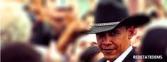 obama cowboy hat