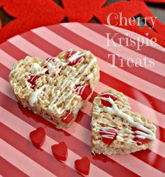 White Chocolate Cherry Krispie Treats