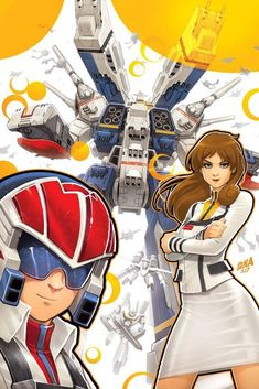 """ROBOTECH, you guys. This cover's really special to me because the series completely owned my heart as a kid. The storytelling was captivating, like Warren Ellis' """"widescreen"""" approach before that was a thing, and the animation style just blew me Macross Valkyrie, Robotech Macross, Anubis, 80s Tv Series, Midtown Comics, Fanart, Mecha Anime, Ghost In The Shell, Light Novel"""