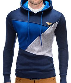 BetterStylz Ben Sweat-shirt à capuche en Laine Manches longues Color Block UNI Homme diff. couleurs S-XL