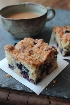 Celebrate National Blueberry month with this Blueberry Coffee Cake recipe #littlechanges