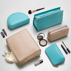 Join the jet set with Autograph's new range of luxury leather cosmetic cases and wash bags - the perfect #travel companion! (Large Blue Autograph: T223904U, Small Blue Autograph: T223904S)