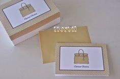 Cartão duplo – Bolsinha Hermés  :: flavoli.net - Papelaria Personalizada :: Contato: (21) 98-836-0113 vendas@flavoli.net