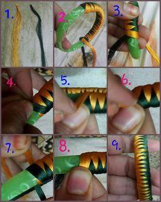 Silk Thread Bangles Design, Silk Thread Necklace, Silk Bangles, Beaded Necklace Patterns, Thread Jewellery, Paper Jewelry, Fabric Jewelry, Jewelry Patterns, Diy Jewelry