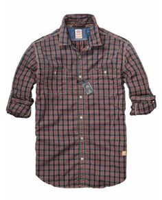 Easy Check Shirt With Chest Pockets > Mens Clothing > Shirts at Scotch & Soda - Official Scotch & Soda Online Fashion & Apparel Shops