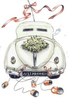 Glückwünsche hochzeit Wedding Buying A Luxury Watch Seven Things You Should Consider Before Buying A Wedding Images, Wedding Cards, Wedding Gifts, Just Married Auto, Bunny Hat, Bird Embroidery, Car Illustration, Illustrations, Wedding Couples
