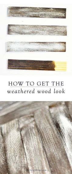 DIY Wood Working Projects: How to Weather Wood - Cherished Bliss