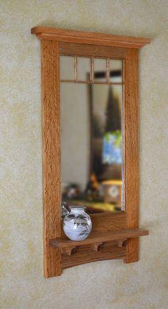 Craftsman Decorative Mirror by NewMissionWorkshop on Etsy https://www.etsy.com/listing/89464920/craftsman-decorative-mirror
