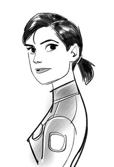 Dr. Callaghan and Abigail in BH6  Design of Abigail is inspired by actress Grace Park.
