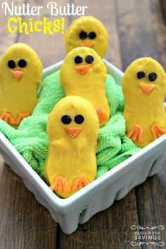 Check out this Adorable Nutter Butter Chicks Recipe for a special Easter Treat for your family!