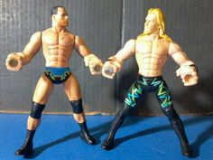 WWE ACTION FIGURES : Chris Jericho & Dean Malenko GRIP N FLIP Set 1999 Toy…