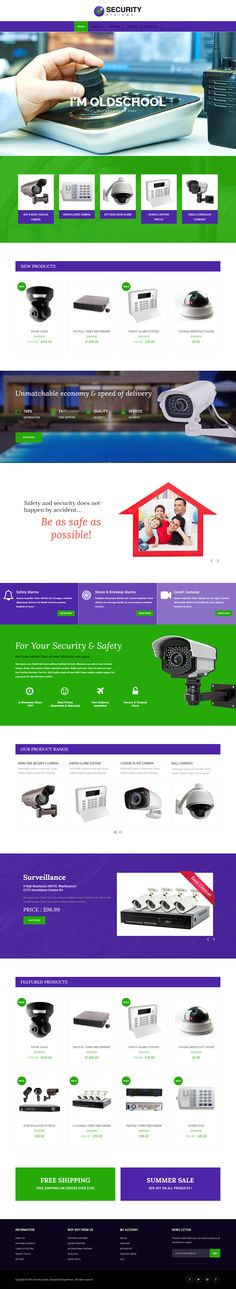 Veda Security System Demo #wordpress #theme