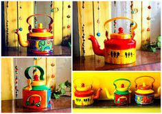 Hand-painted Kettles/Tea-pots from www.papercuponline.in