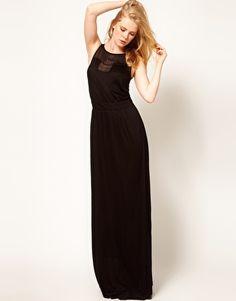 Enlarge Mango Maxi Dress With Sheer Jersey Panel