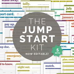 Hey, I found this really awesome Etsy listing at https://www.etsy.com/listing/155695955/the-jump-start-kit-editable-home