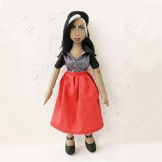 Amy Winehouse  portrait doll by infernaltoys on Etsy