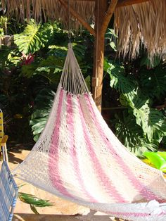 Pink Cotton Hammock From Guatemala by CasadelosGigantes on Etsy, $60.00