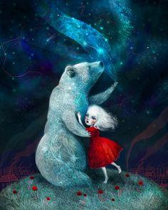 Star Bear print  Bear art spirit animal night by Meluseena on Etsy                                                                                                                                                                                 More