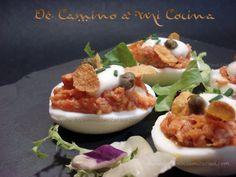 Huevos Rellenos   De Camino a Mi Cocina