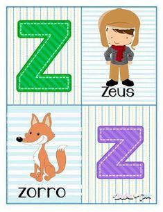 Tarjetas de abecedario para aprender las letras Alphabet Letters Images, Alphabet Cards, Pre Kindergarten, Kindergarten Worksheets, Math For Kids, Kids And Parenting, Preschool, Classroom, Kids Rugs