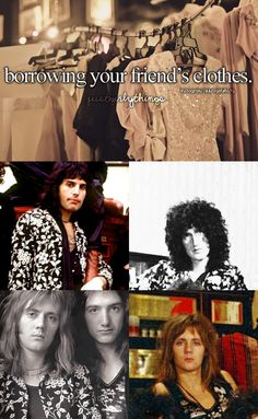 random thoughts: queen, life, and everything Queen Facts, Queen Band, Rock Groups, John Deacon, Modern Love, Friend Outfits, Best Rock, Girl Bands, Freddie Mercury