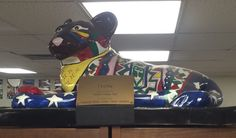 """Itche'"" Cub Located @ Roosevelt School, Appleton, WI,  in the library."