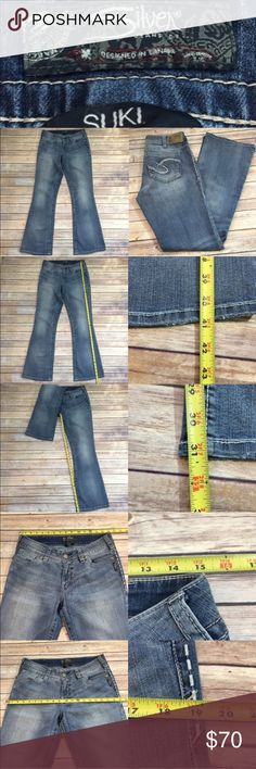 Silver Suki mid super skinny jeans Gently used silver Suki med