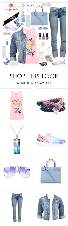 """SNAPMADE"" by frane-x ❤ liked on Polyvore featuring Chambers & Beau, Martick, OPI, NIKE, Kurt Geiger, Current/Elliott, Anna Sui and Modström"