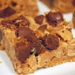 Double Delicious Cookie Bars - Butter, graham cracker crumbs, condensed milk, peanut butter chips, and milk chocolate chips. Variety is good, too. Use different chips. Add nuts and/or coconut. Pretty much anything goes.