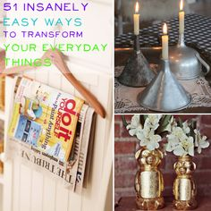 <b>Love the idea of DIY but hate the actual effort it requires?</b> Here are some creative ways to reuse the stuff you already own.
