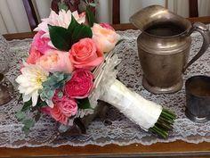 Pink Vinatge Bridal Bouquet By Tustin Florist