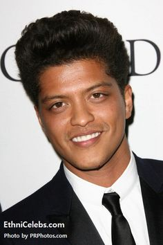 Bruno Mars - Puerto Rican, Ashkenazi Jewish (father) and Filipino (including Cebuano and Tagalog), some Spanish (mother)