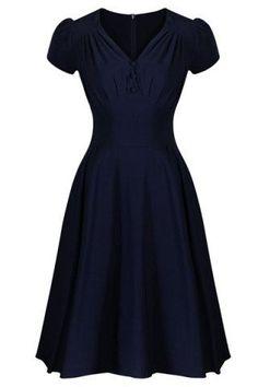 GET $50 NOW | Join RoseGal: Get YOUR $50 NOW!http://m.rosegal.com/vintage-dresses/chic-v-neck-short-sleeve-264647.html?seid=6806040rg264647