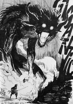 Ideas for illustration art dark horror Arte Horror, Horror Art, Horror Drawing, Manga Art, Anime Art, Art Sketches, Art Drawings, Monster Art, Shadow Monster