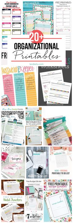 Organize every part of your life!  TONS of awesome organizational printables to keep track of everything and get organized in the prettiest easiest way!
