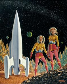 "÷¬> ""Fishbowls? We're 10,000 miles from earth and they gave us FISHBOWLS to wear on our heads?"" (Art: Al Feldstein)"