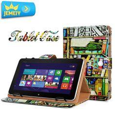 "Designer Print Universal Leather Adjustable Large Size Tablet Flip Cover Case 18 Styles 9.4-10.1"""