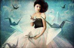 Catrin Welz-Stein: My first Origami Crane  http://catrinwelzstein.blogspot.com/