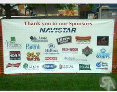 Multi sponsor banner Good Samaritan Hospital, Baseball Banner, Travel Baseball, Thank You Sign, Football Tournament, Silent Auction, Team Photos, Fundraising Events, Banner Design