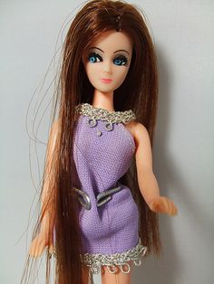 Dawn Doll from the 1970s = Poor man's Barbie (smaller and less expensive). I think this one was called Long Locks. I also had Gary (the boyfriend) and the plastic pink sports car with wheels that turned. #HappyChristmas