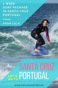 1 WEEK SURF PACKAGE IN SANTA CRUZ   PORTUGAL what is included : ~7 nights accommodation with breakfast ~5 surf lessons of duration approx. 2h ~full surf equipment  & insurance ~beach transfer to the best spot ~welcome dinner on Monday ~trip to Ericeira ~bed linen & towel ~Wi-Fi ~*airport transfer offer  #portugalsurftrip #SantaCruz #surfing #in #portugal #atlanticocean #surfholiday #surf #waves #clean #ocean #respect #nature #paradise #surftrip #learn #howtosurf #have #fun #visitportugal… Santa Cruz Portugal, Visit Portugal, Portugal Travel, Surf Trip, Surf Travel, Santa Cruz Surf, Clean Ocean, Adventure Activities, Yoga Retreat
